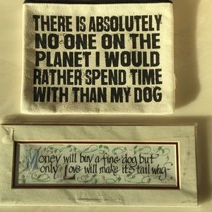 Other - Dog bag makeup pencil sign love make it's tail wag